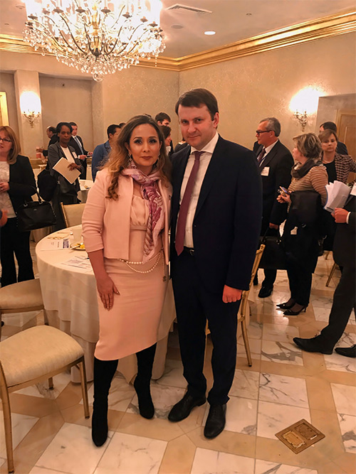 Evelina Libhen with the Minister of Economic Development of the Russian Federation