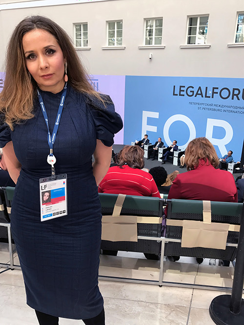 Evelina Libhen at Legal Forum in Zurich